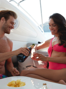 Champagne on board | Luxury Boats Positano