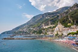 Where is Amalfi Coast, one of the most beautiful corners of Europe